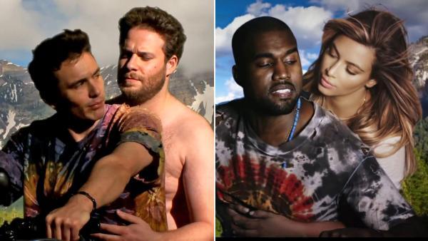 Kanye West le pide a James Franco que parodie de nuevo «Bound 2» en su boda