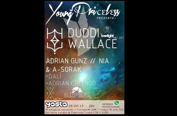 [GANADORES] Sorteamos 5 entradas para ver a Duddi Wallace, Lowlight, Dali, Adrian Gunz y + en Madrid
