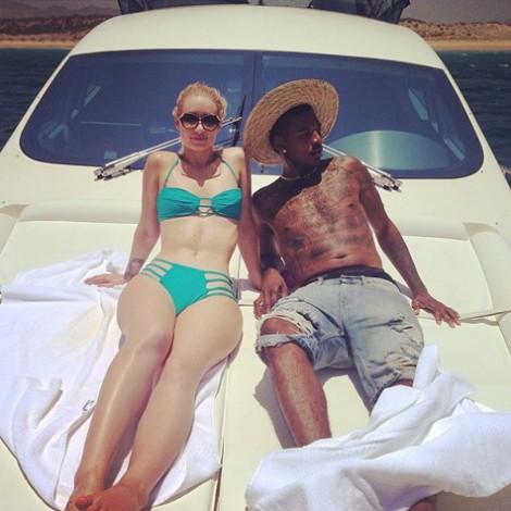 Iggy Azalea y su novio Nick Young celebran sus vacaciones en México