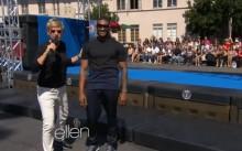 Usher se enfrenta a los obstáculos del programa 'American Ninja Warrior'