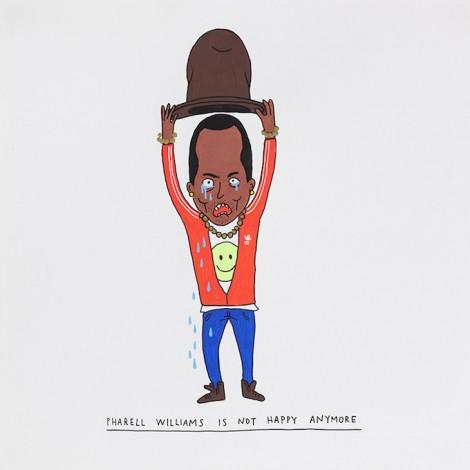 Los dibujos satíricos de una artista italiana sobre Pharrell Williams y Miley Cyrus