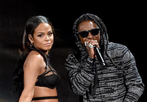 Lil Wayne estrena su nuevo single 'Start a Fire' junto a Christina Milian en los AMA 2014