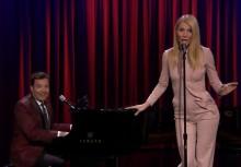 Gwyneth Paltrow y Jimmy Fallon versionan a Nicki Minaj, Big Sean y Drake al estilo Broadway