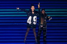 Katy Perry, Missy Elliott y Lenny Kravitz actuaron en el intermedio de la Super Bowl XLIX