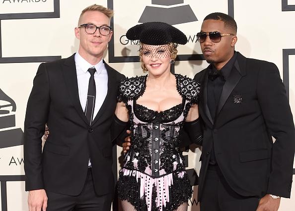 Madonna, de torera, acompañada de Nas y Diplo