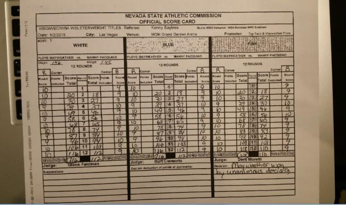 Resultado Floyd Manny