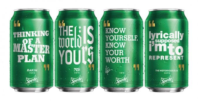 Sprite introduce a Drake, Nas, Biggie y Rakim en sus latas
