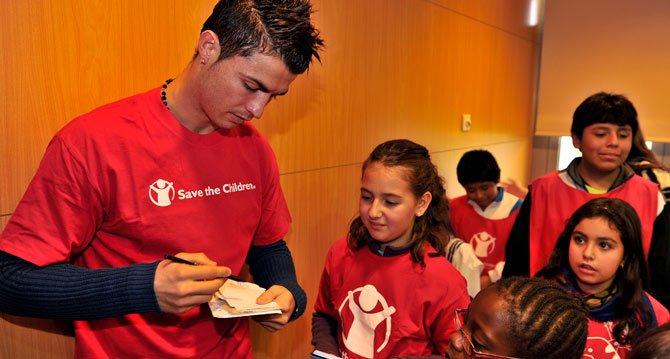 Cristiano Ronaldo es oficialmente el atleta más caritativo del mundo