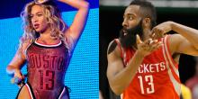 Beyoncé lució así de sexy la camiseta de James Harden en el 'Made in America'