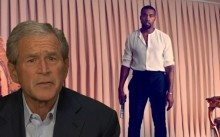 George Bush se ríe de la candidatura de Kanye West
