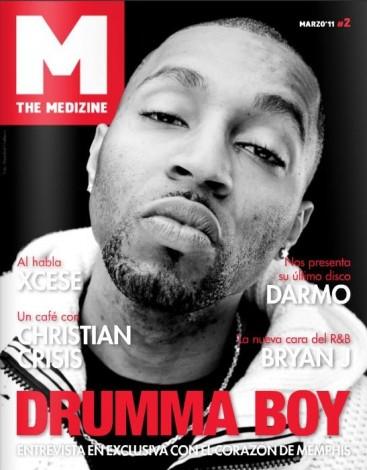 Drumma Boy para la portada del segundo número de The Medizine, en 2011