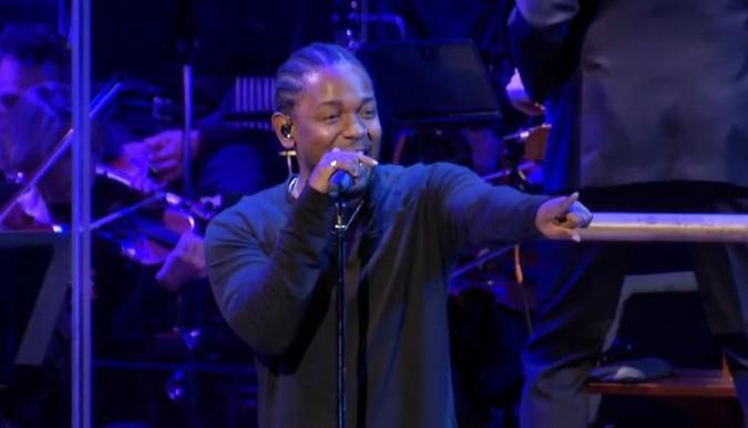 Kendrick Lamar se marcó un concierto con la Orquesta Sinfónica Nacional anoche