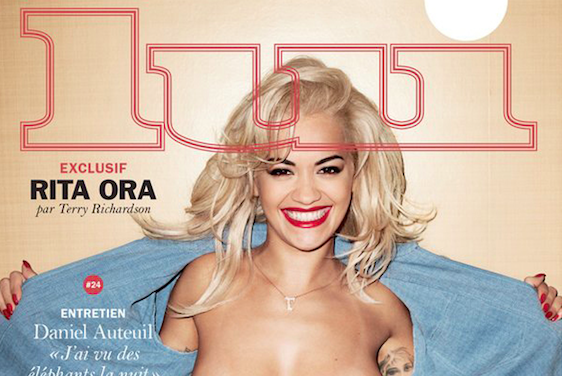 Rita Ora posa en topless para Terry Richardson y Lui Magazine