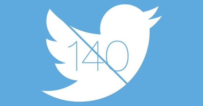 Twitter estira su límite de 140 caracteres