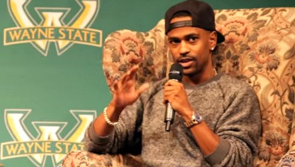 Big Sean en la Universidad Estatal Wayne
