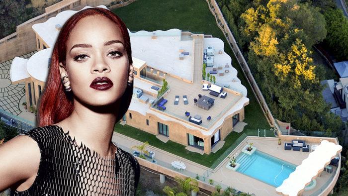Échale un vistazo a la increíble mansión de Rihanna en Los Ángeles
