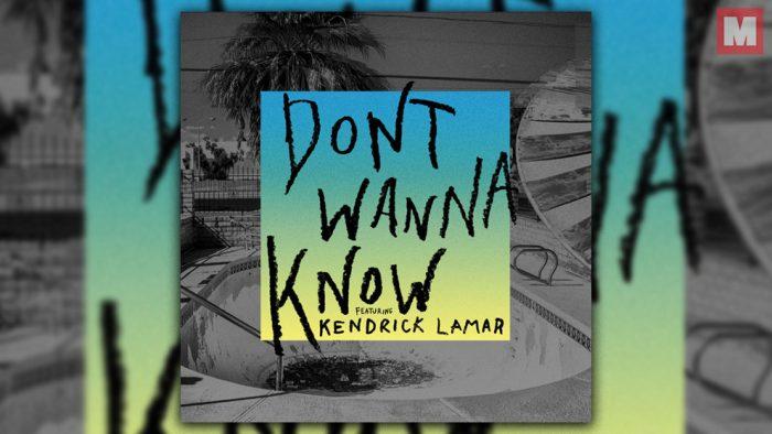 Kendrick Lamar y Maroon 5 se unen en 'Don't Wanna Know'