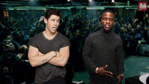 Kevin Hart y Nick Jonas se enfrentan en una batalla de gallos
