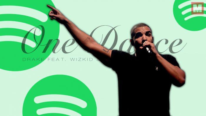 'One Dance' de Drake es el tema más escuchado en la historia de Spotify