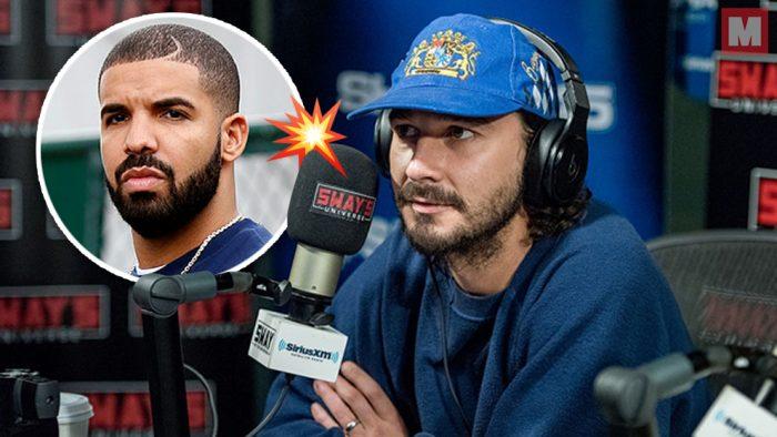 Shia LaBeouf lanza un sorprendente freestyle y la toma con Drake