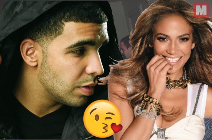 Salen a la luz los primeros besos en público de Drake y Jennifer Lopez