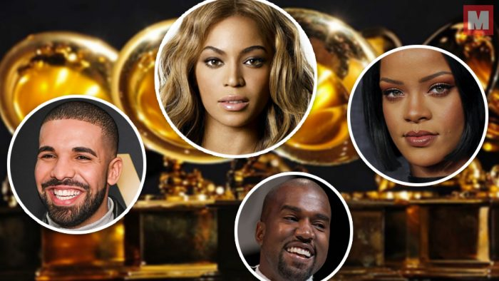 Beyoncé, Drake, Kanye West y Rihanna lideran las nominaciones a los Grammy 2017