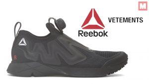 Reebok y Vetements lanzan un nuevo modelo «All-Black» de las Pump Supreme