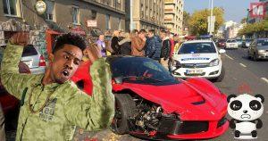 Denuncian a Desiigner por destrozar un Ferrari de alquiler