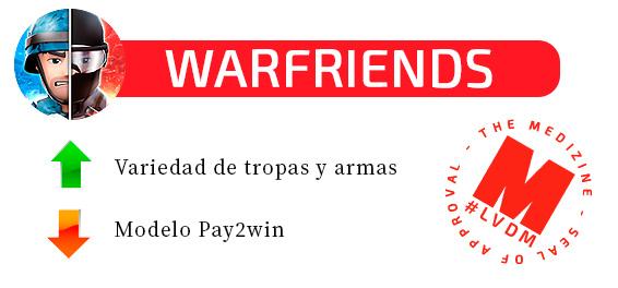 warfriends - La viciada del mes: analizamos el juego para móviles 'Warfriends'