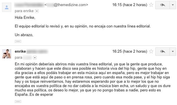 """enrike opinion - Carta abierta a los """"nazis del rap"""", también conocidos como """"mi rap es real y el tuyo no"""""""