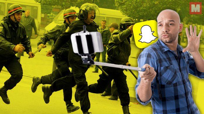 Un joven escapa de la policía y comparte su huída por Snapchat