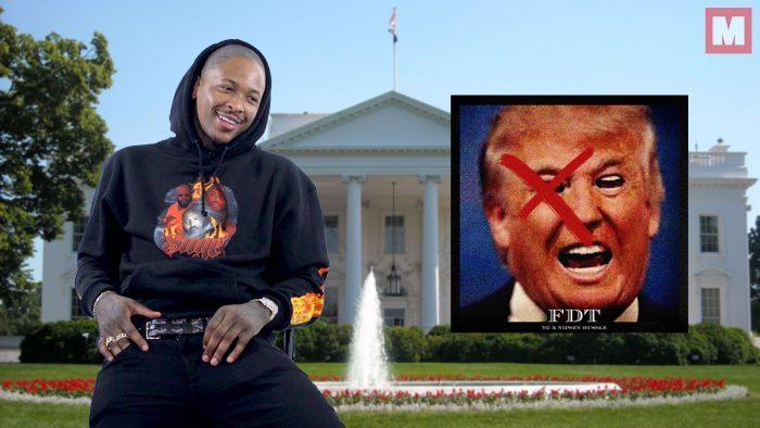 YG se ofrece a interpretar 'Fuck Donald Trump' en la ceremonia inaugural del presidente por un módico precio