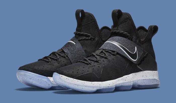 another chance 5cc04 47f0f nike lebron james xiv basketball shoes in black noctilucence men lebron 14   nike lebron 14 black ice