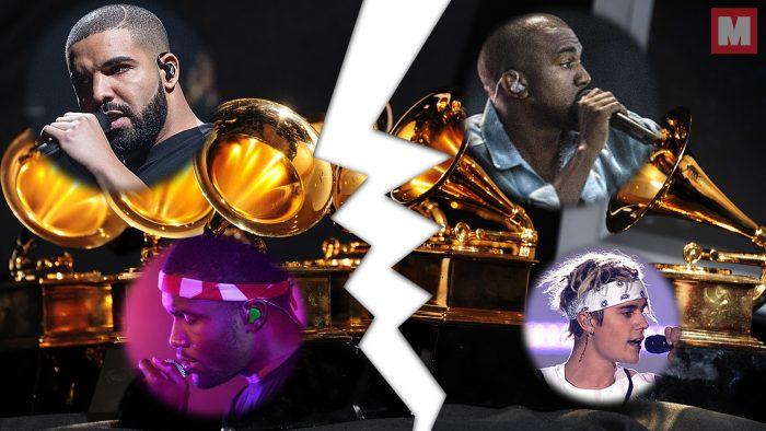 Drake, Kanye West y Justin Bieber planean boicotear los Grammy 2017