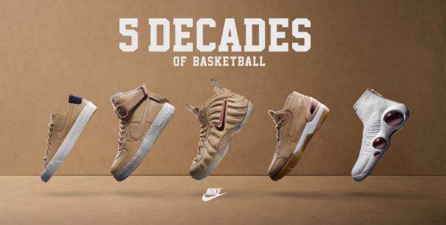 Nike 5 Decades of Basketball: el homenaje de Nike a las últimas décadas de baloncesto