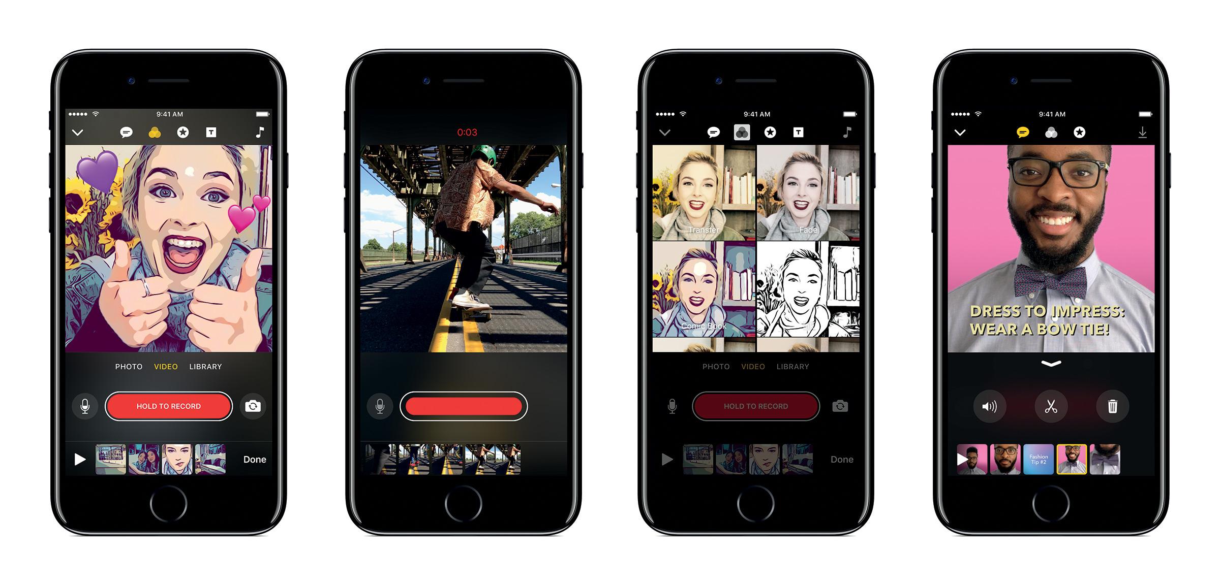 apple clips - Apple estrena su iPhone 7 rojo, nuevo iPad y una app similar a Snapchat