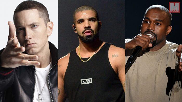 Drake empata con Eminem y Kanye West en álbumes de rap número uno