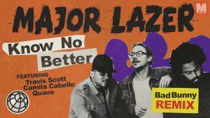 Bad Bunny se atreve a remixear 'Know No Better' de Major Lazer