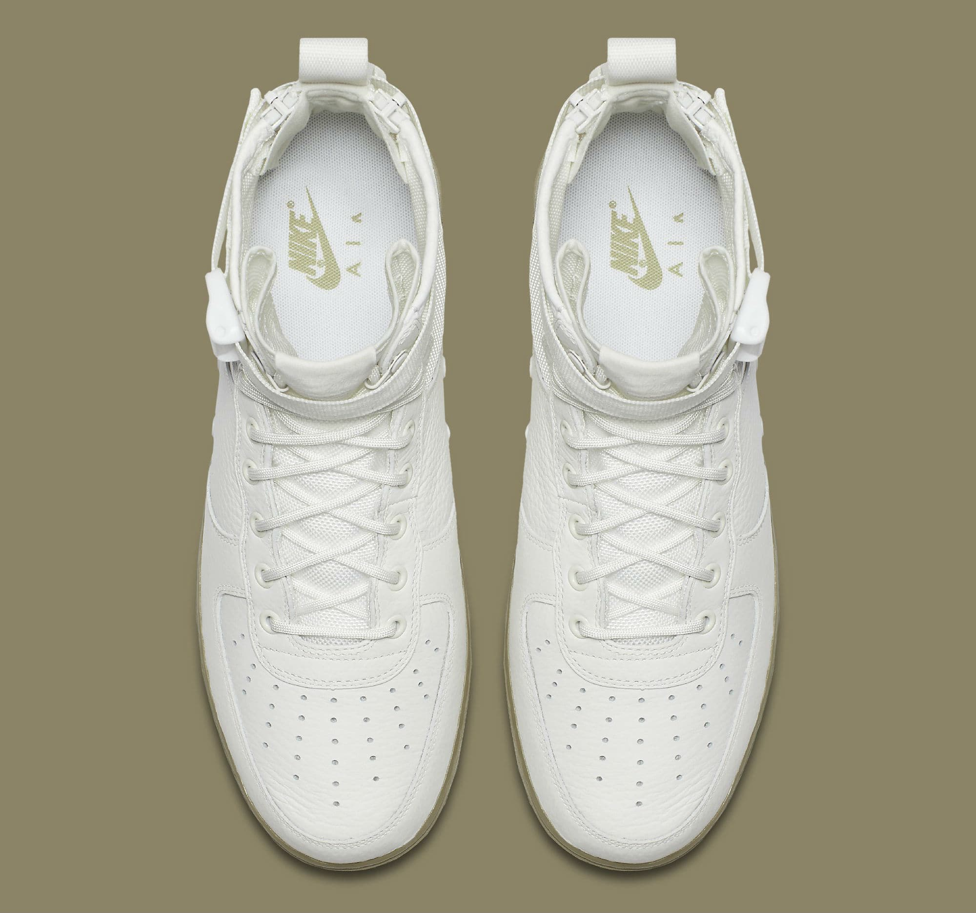 4dc5ea3bd6b ... buy nike sf air force 1 mid ivory neutral olive release date 917753 101  3 c6694