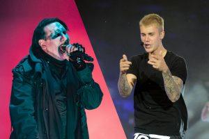 Marilyn Manson tacha de «pedazo de mierda» a Justin Bieber