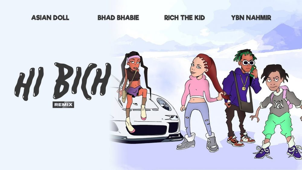Bhad Bhabie se ensaña con Iggy Azalea en el remix de su éxito 'Hi Bich'