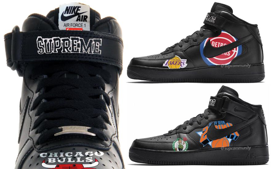 buscar original Tienda online diseño unico Una colaboración de altura: Supreme x NBA x Nike Air Force 1 Mid