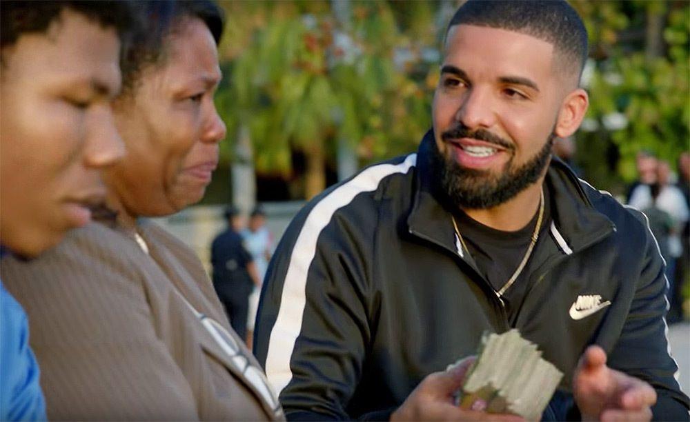 Drake llama a todos sus seguidores a realizar buenas acciones