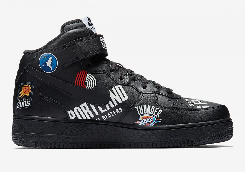 supreme nike air force 1 mid black aq8017 001 1 1000x702 - Así son las imágenes oficiales de las Supreme x NBA x Nike Air Force 1