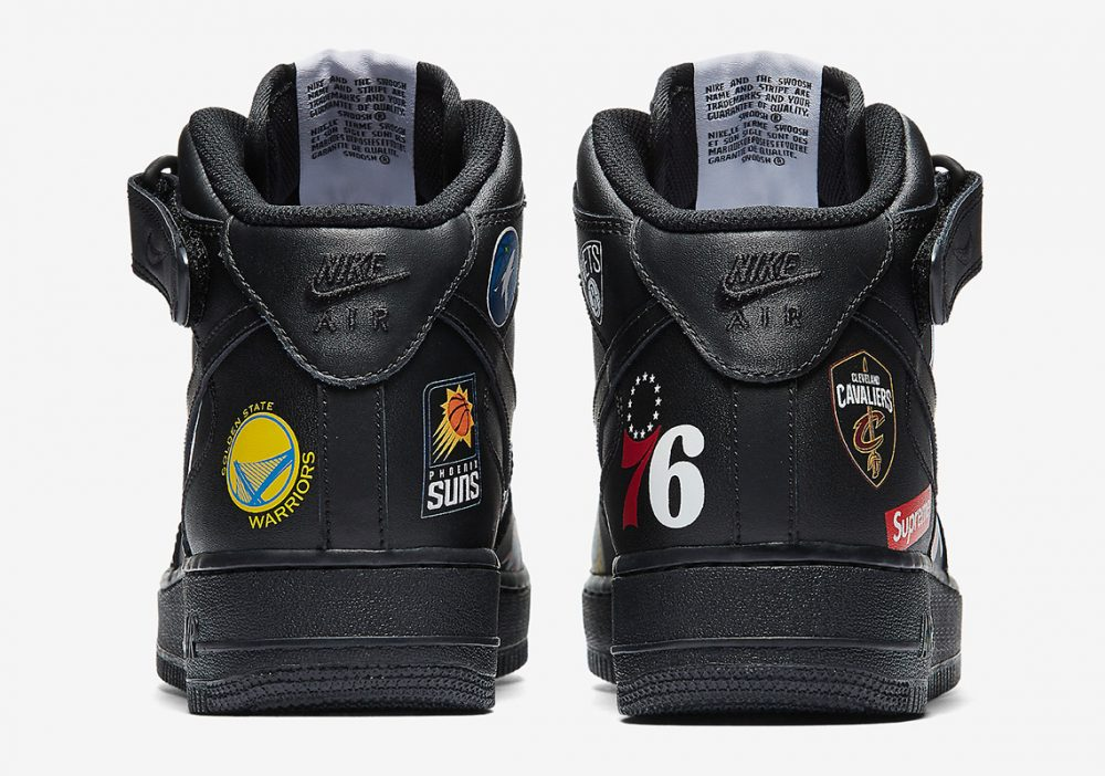 supreme nike air force 1 mid black aq8017 001 4 1000x702 - Así son las imágenes oficiales de las Supreme x NBA x Nike Air Force 1