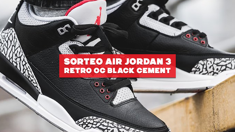 ¡Sorteamos unas Air Jordan 3 OG 'Black Cement'!