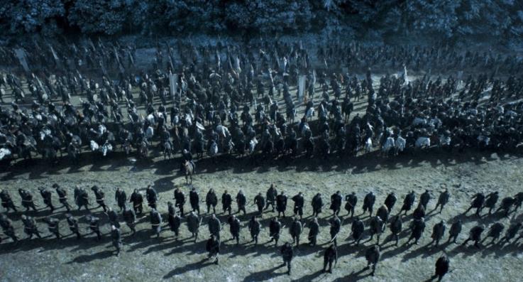 55 días para rodar una batalla de la octava temporada de Juego de Tronos