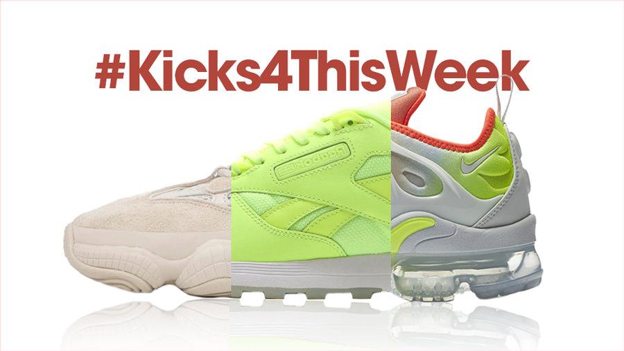 #Kicks4ThisWeek: reinvenciones de Nike, Off-White, YEEZYs 500 y más