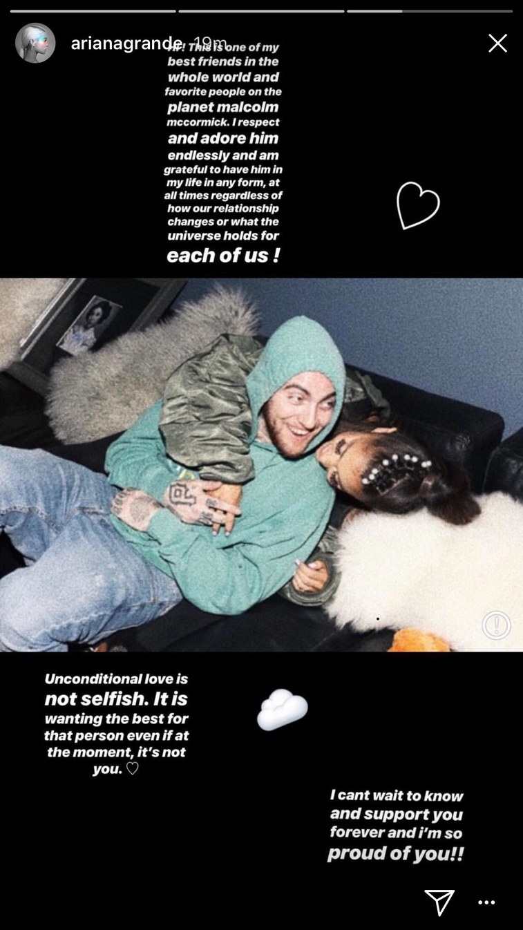 ariana20screenshot - Ariana Grande confiesa tras la ruptura tener en Mac Miller a uno de sus mejores amigos