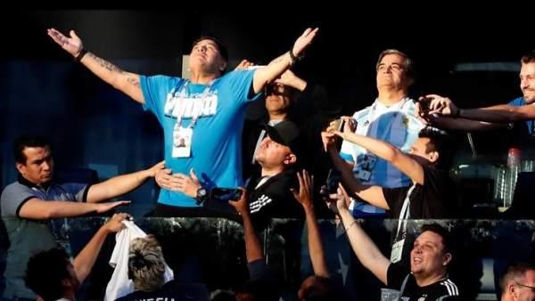 Maradona se convierte en el nuevo meme del mundial